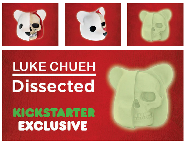 The Dissected Vinyl Figure Kickstarter Campaign by Luke Chueh x Clutter Magazine x Unbox Industries - Kickstarter Exclusive Glow in the Dark Colorway