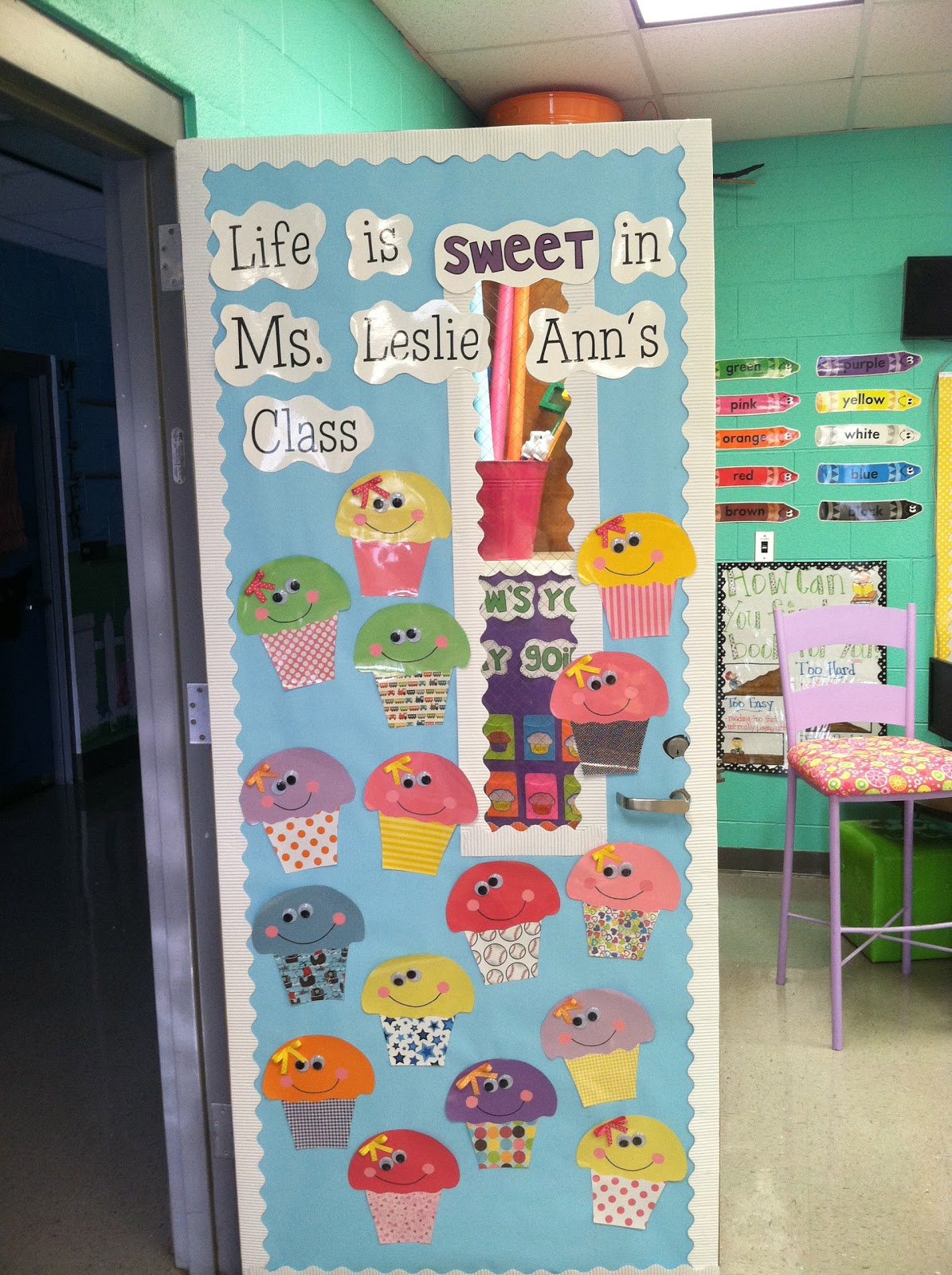 Cute Classroom Decoration ~ Life in first grade my new door