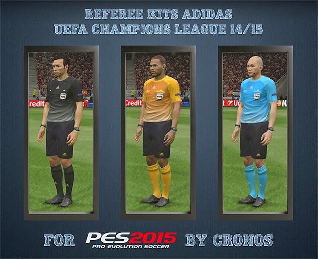 PES 2015 Referee Kits Diadora Serie A 14-15 + Adidas UEFA Champions League 14-15 CPK