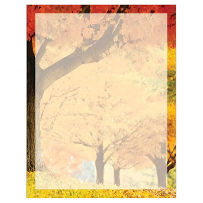 Fall Scene Autumn Thanksgiving Printer Paper