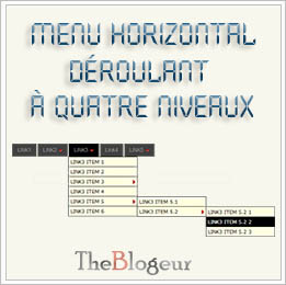 Menu Horizontal Déroulant Blogger