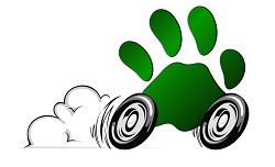 Paws-on-Wheels Paw-Friendly Rating Symbol
