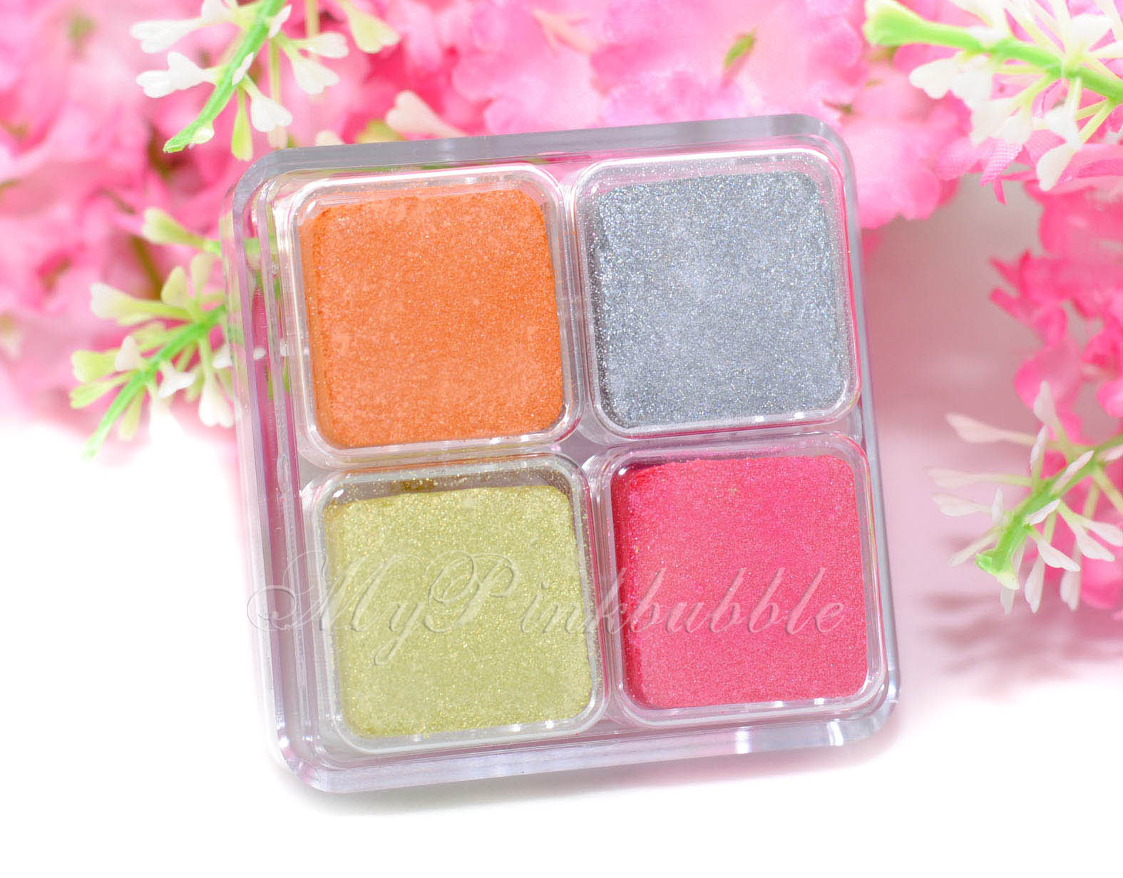 Body shop paleta shimmer cubes pink poppy