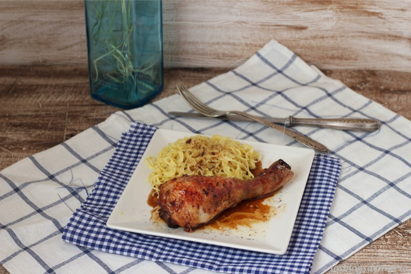 Pollo a la miel y vinagre