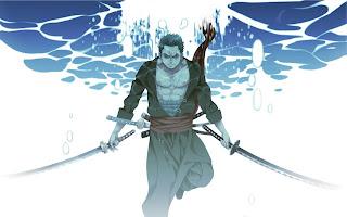 Roronoa Zoro After Two Years Samurai Sword Underwater One Piece Anime HD Wallpaper Desktop Background