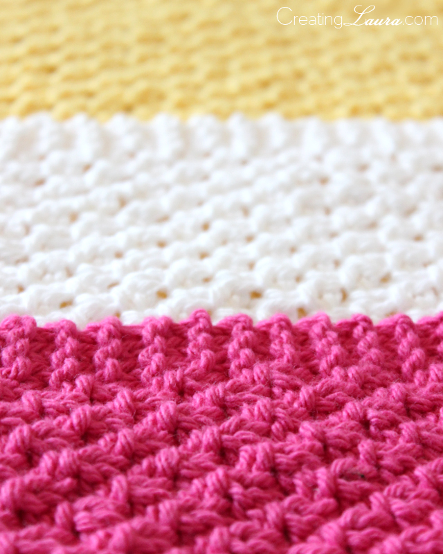 Knitted Moss Stitch Dishcloth Pattern : A Blessed Day: Knitted Wash Cloths- Easy