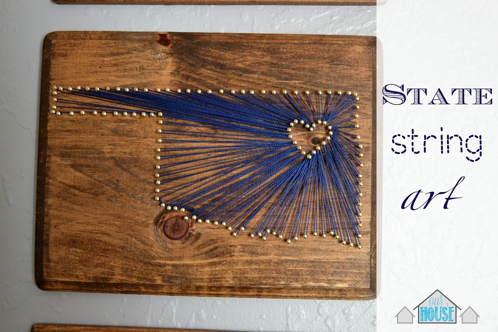 Nail Art Ideas state nail string art : Our House in the Middle of Our Street: State String Art