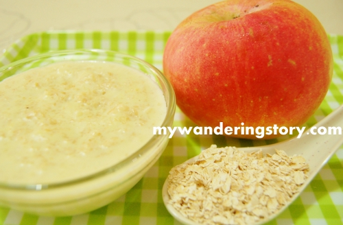 The wanderers journal making baby food apple oatmeal cereal i normally prepare naomis oatmeal cereal by cooking some spoons of oats with water and her formula milk powder however this morning i added the goodness ccuart Image collections