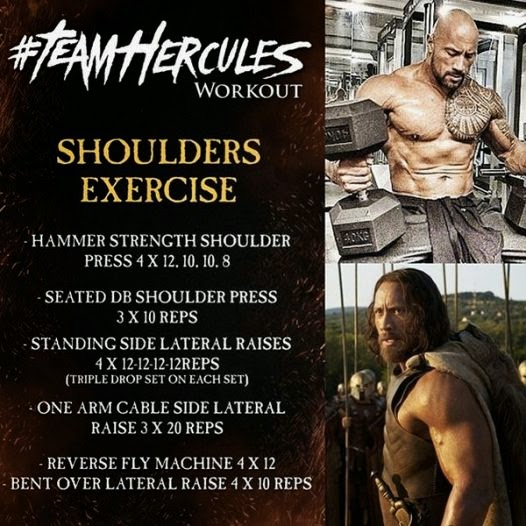 Dwayne Johnson Hercules Shoulders Workout routine