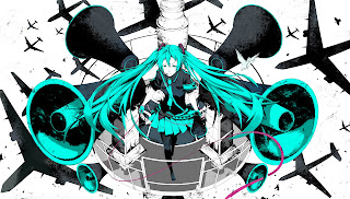 Vocaloid Hatsune Miku Anime Girl Sound System Airplanes HD Wallpaper Desktop Background