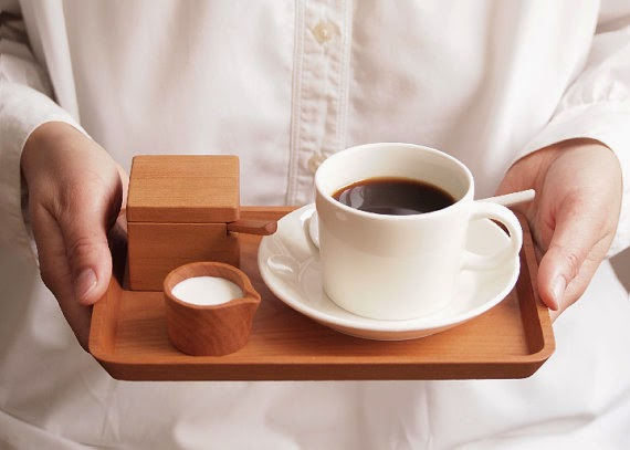 wood tea and coffee set Etsy