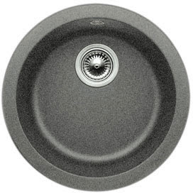 Blanco 511-632 Blancorondo Round Anthracite Silgranit Self-Rimming Or Undermount Bar Sink