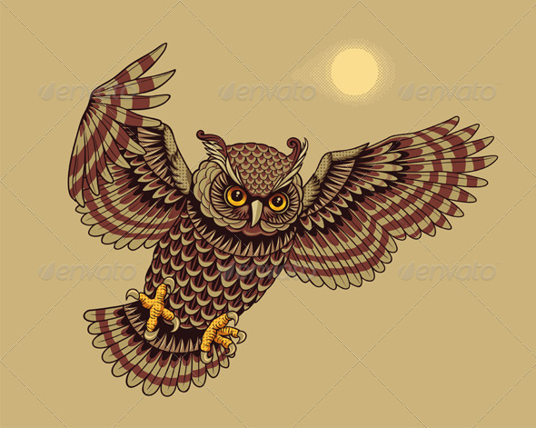Flying owl tattoos | Bird Tattoos