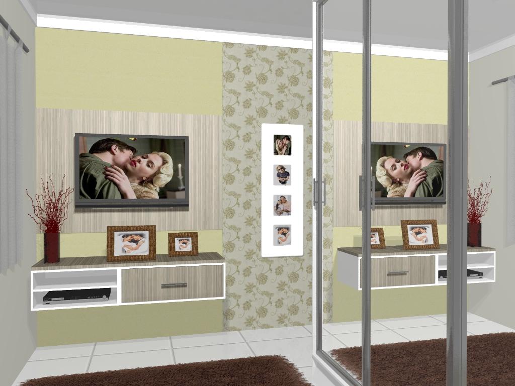 Painel para TV Quarto Casal Villa Jardim #614635 1024x768
