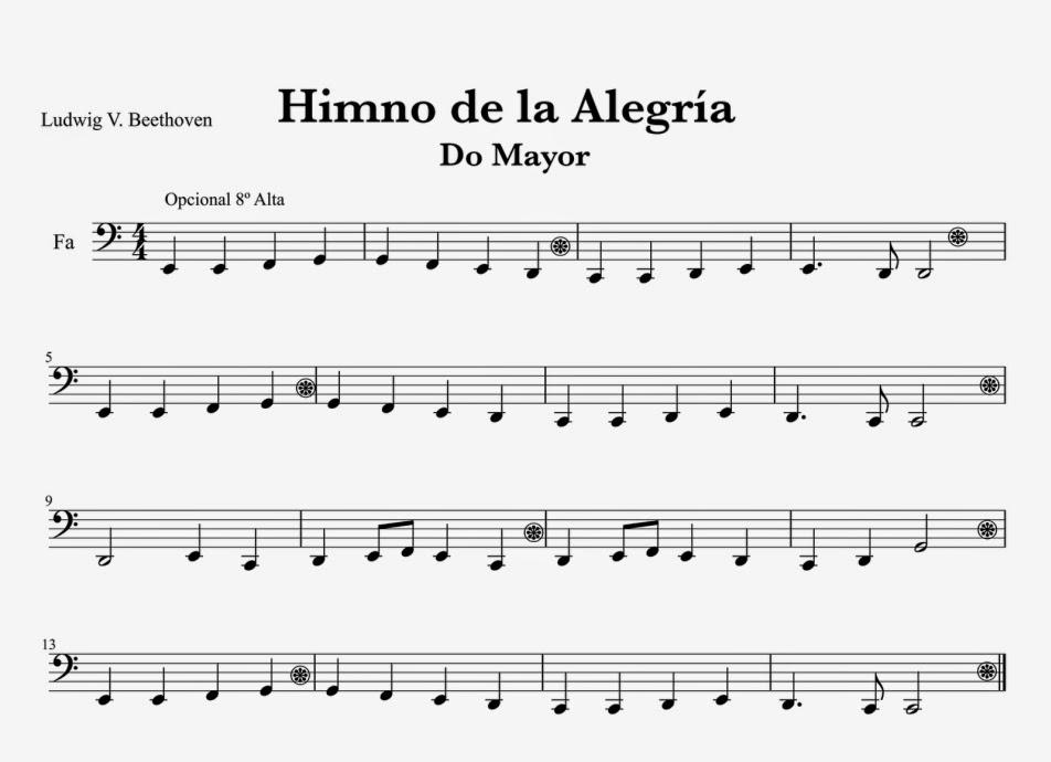 Image Result For Partituras De Canciones Sencillas En Do Mayor De Cuatro