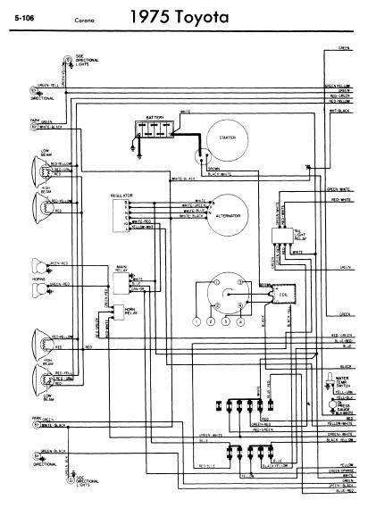 Toyota Corona 1975 Wiring Diagrams