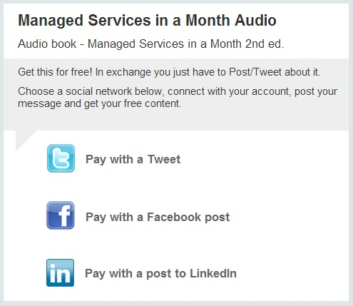 Managed Services in a Month Audio Book free for a limited time