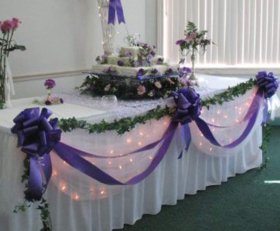 One lovely wedding ideas for a frugal wedding reception for Wedding party table decorations