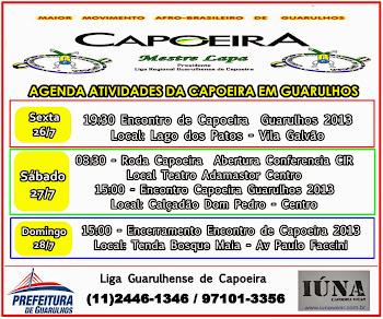 AGENDA EVENTOS DE CAPOEIRA FIM DE SEMANA
