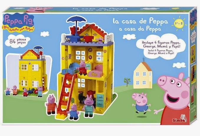 TOYS : JUGUETES - PEPPA PIG  La Nueva Casa de Peppa  Producto Oficial | Simba 6063439 | Edad: 1,5 -5 años  84 piezas | Juego de construcción