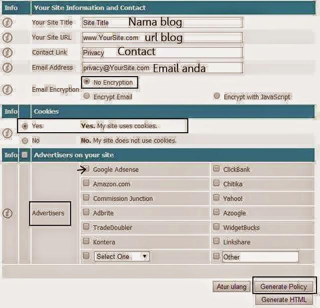 Cara Paling Mudah Membuat Privacy Policy Untuk Blog