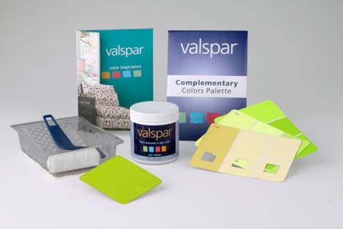 To help fans choose from Valspar's 3,000 color choices of free samples ...