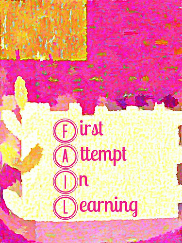 an acronym is used to describe fail: first attempt in learning