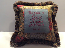 Phil. 4:7 - sage/turquoise/red tapestry