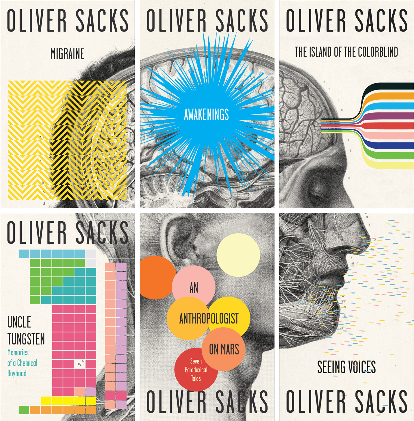 Beautiful Book Cover Ups : Spine out new oliver sacks covers