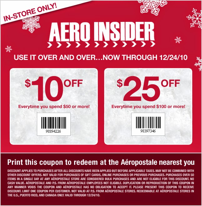 Find the best Aeropostale coupons, promo codes and deals for December All coupons hand-verified and guaranteed to work. Exclusive offers and bonuses up to % back! A $5 credit is added to your Aeropostale PS rewards account as soon as you accrue 75 points. A birthday gift and exclusive sale access are some extra perks of the program.