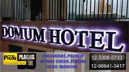 LETRA CAIXA COM ILUMINAÇÃO EM LED HOTEL DOMUM PINDAMONHANGABA, SÃO PAULO