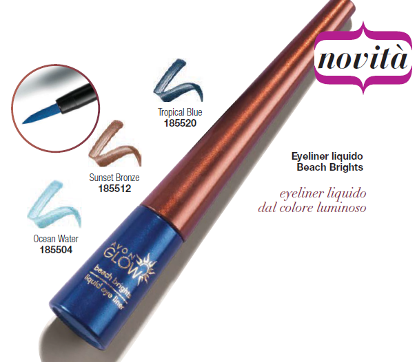 EYELINER LIQUIDO LUMINOSO BEACH BRIGHTS di AVON GLOW - Prodotti Avon Italia