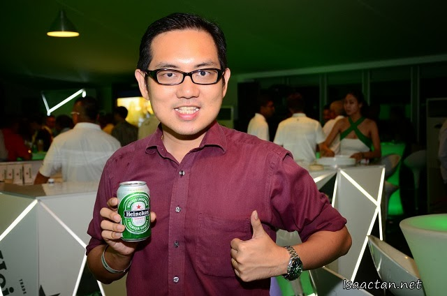 And here's a thumbs up for Heineken !