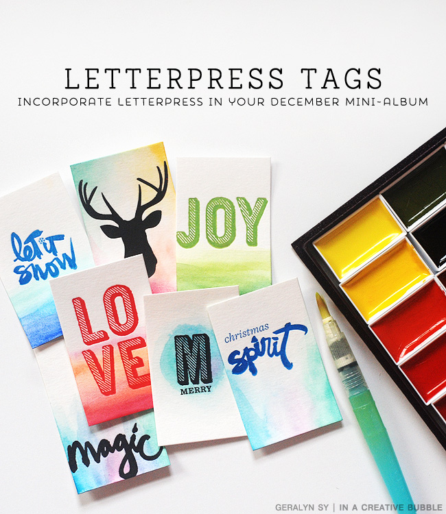 In a Creative BubbleTutorial // Letterpress Tags for December Daily