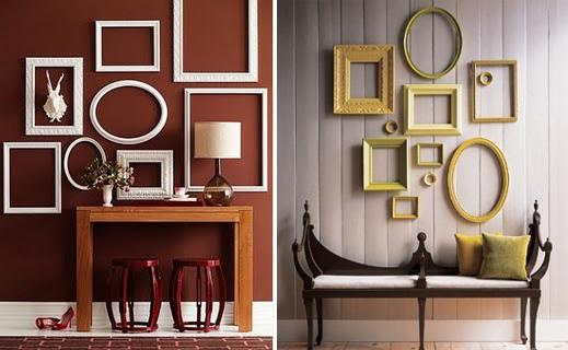 Decoraci n con marcos ideas para decorar dise ar y for Paredes decoradas con cuadros