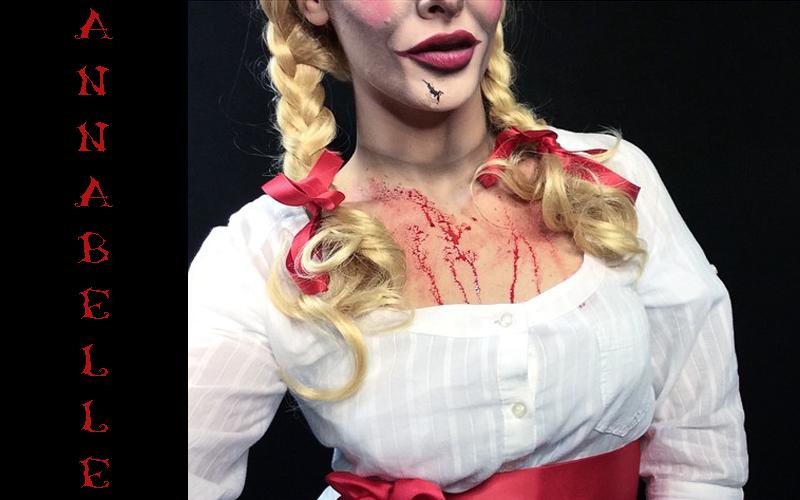 annabelle halloween makeup idee instagram