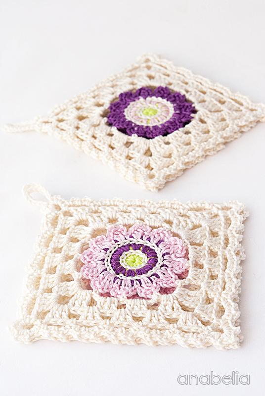 Japanese inspiration crochet square coasters | Anabelia Craft Design ...