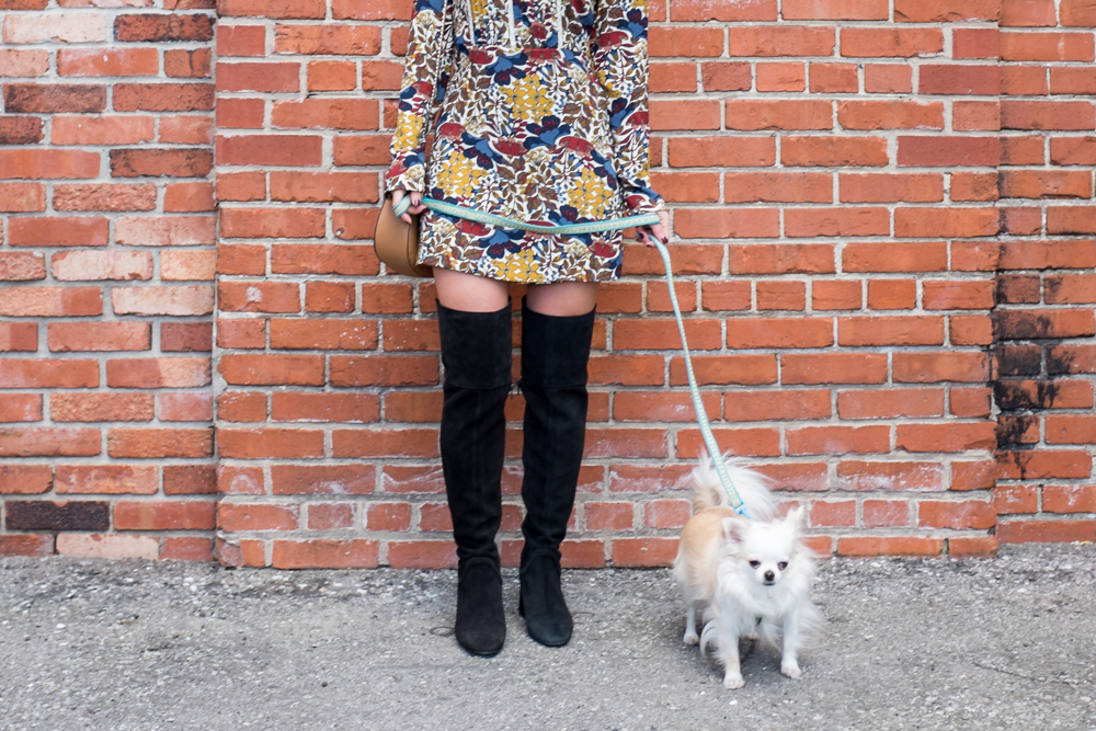 retro seventies sixties outfit zara over the knee boots