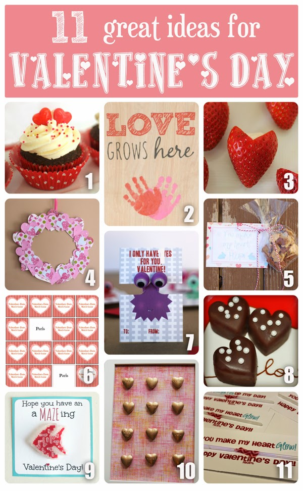 11 great ideas for Valentine's Day