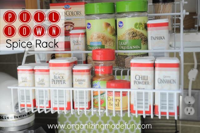 spice rack organize