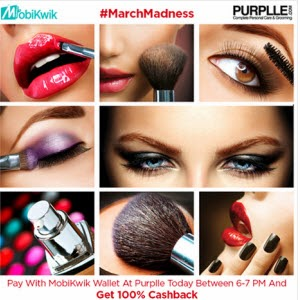 Purplle : Upto 50% Off with Extra 15% Cahback through Mobikwik Wallet