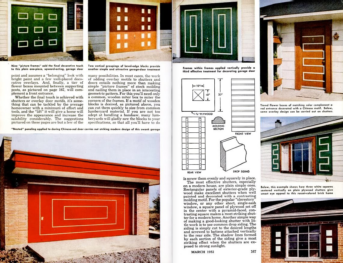 Mad For Mid Century Mid Century Doors Garages And Shutters
