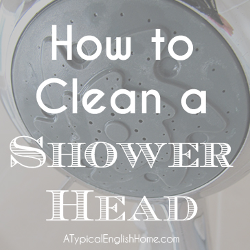 A Typical English Home How To Clean A Shower Head With