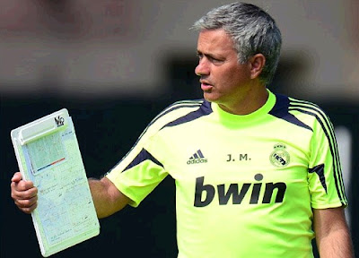 Jose Mourinho training with Real Madrid at UCLA 2012