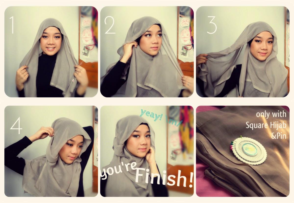 20 Foto Tutorial Hijab Segi Empat Hana Untuk Anda Tutorial Hijab