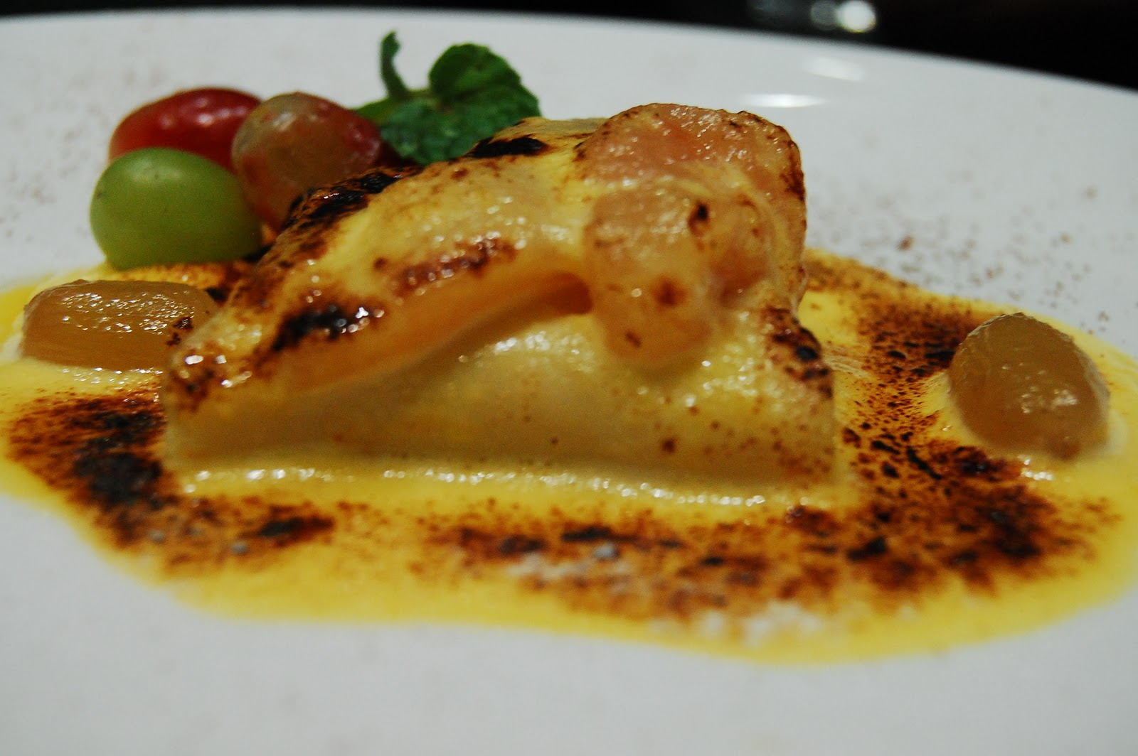 Us potato cuts jpg thanksgiving dinner at restaurant 9501 - Poached Pears Grapes Mashed Potato Crepes And Vodka Sabayon By Chef Myrna Segismundo For The 2011 Us Potato Board Thanksgiving Dinner