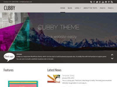 CUBBY W THEME WordPress Theme