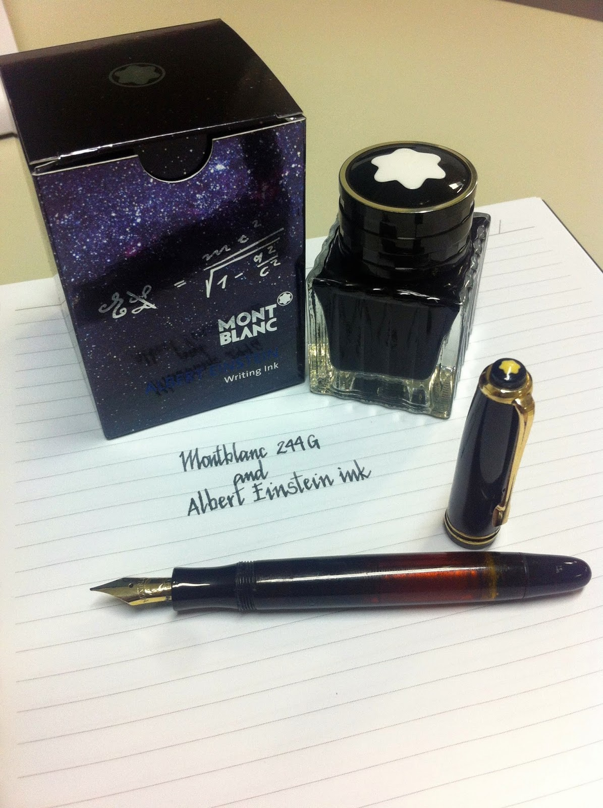 Montblanc 244G and Montblanc Albert Einstein ink