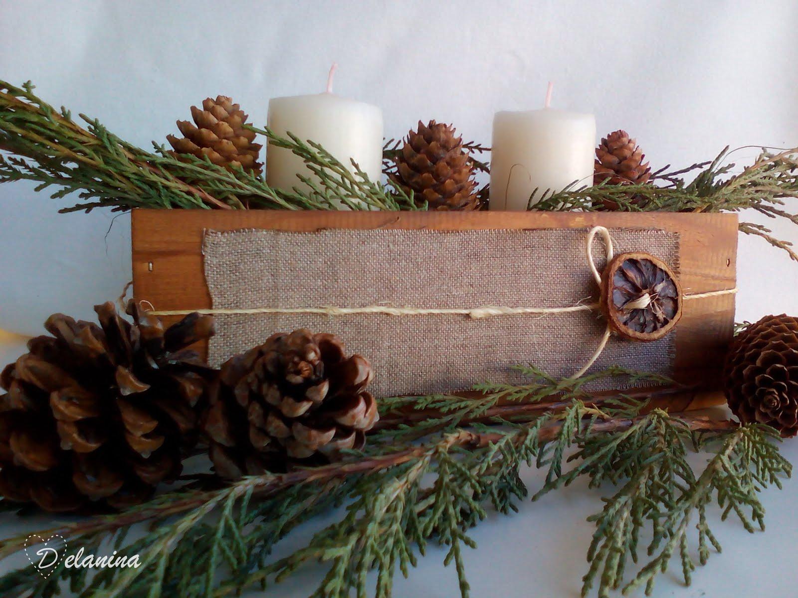 Diy centro de mesa navide o delanina for Centros de mesa navidenos elegantes