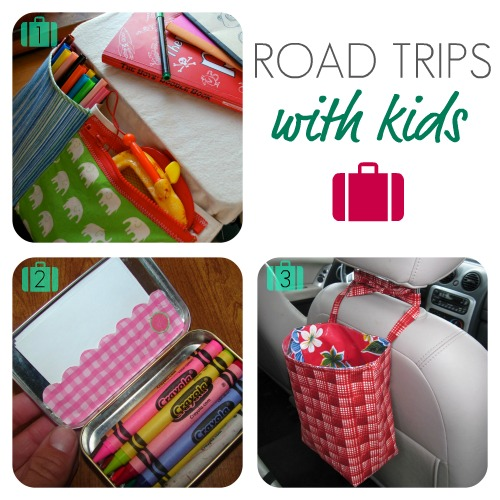 Kid's Travel Desk made by Holly at Chez Beeper Bebe using tutorial by  Merrilee from Mer Mag This travel lap desk has storage on both sides, ... - Gwenny Penny: Pin It Wednesday: Road Trips With Kids
